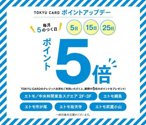 東急カードポイントアップキャンペーン TOP