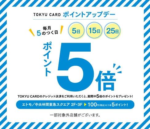 東急カードポイントアップキャンペーン 中央林間